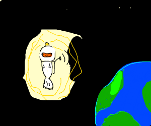 Fish astronaut