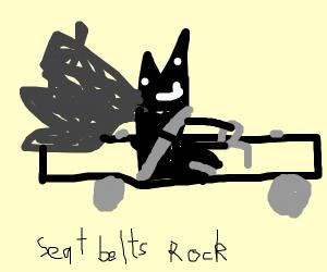 Batman and a half car