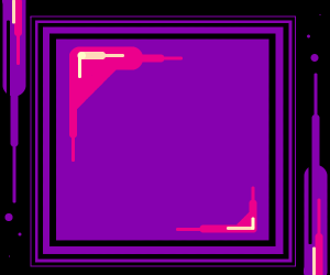 Purple square of geometrical violetness!