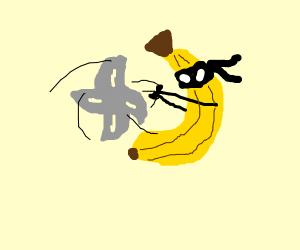 Banana Ninja Heaves a Throwing Star