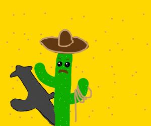 A cowboy cactus