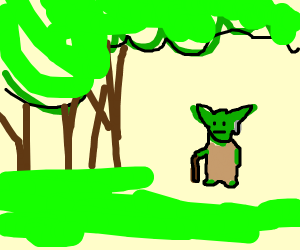 Yoda in the Forest