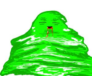 Slime drools blood