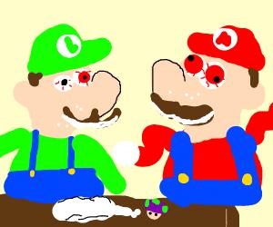 luigi and mario on cocaine