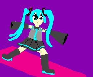 Hatsune Miku does Aerobics