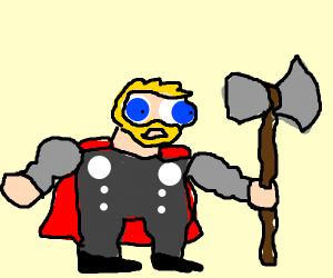 Thor Odinson vs police circle