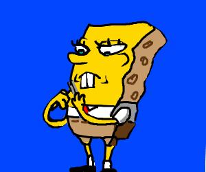 Spongebob shaves