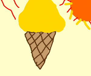a very hot ice cream