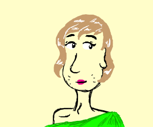 Shaggy wearing an off-the-shoulder top