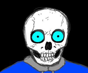 sans but a real skeleton skull