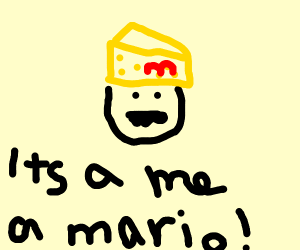 Mario's hat is a block of cheese