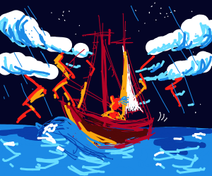 Pirates in a storm