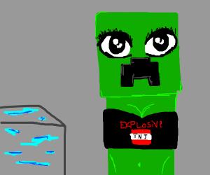 girl minecraft creeper