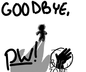 a good bye panel for pw