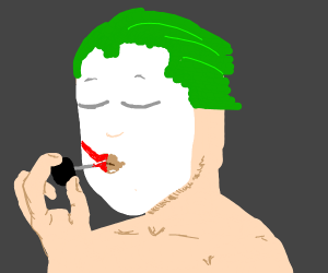 Dry skinned Joker could use chapstick