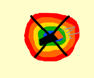 colored no smoking sign