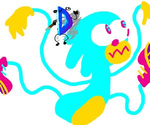 drawception draws really neon sonic