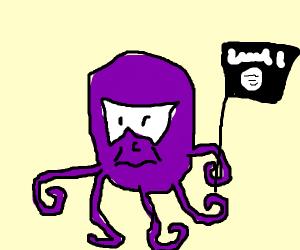 Badass octopus starts djihad