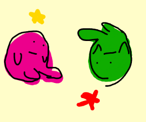 Kirby meets Bizarro Kirby