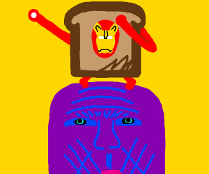 Iron man toast dabbing on thanos