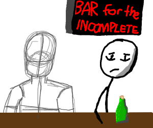 Bar for incompletely drawn characters