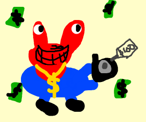 M. Crabs holds a camera