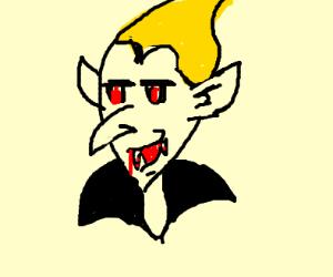 vampire with yellow hair