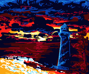 If DeathBySqueegee drew a lighthouse