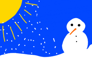 the sun is snowing