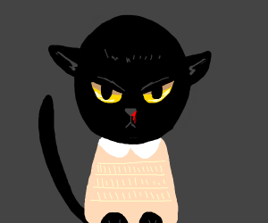 Cat with a bleeding nose