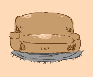 couch on a rug