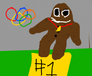 Gingerbread cookie wins the olympics