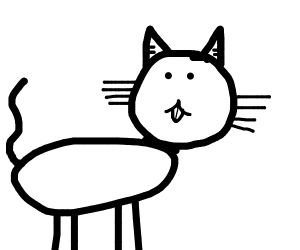 Half-black, half-white cat.