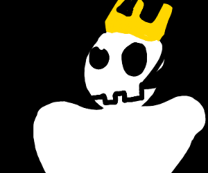 The king likes skulls