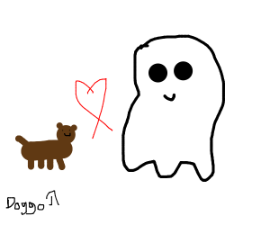 A dog in love with a ghost