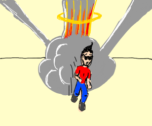 cool guy walking away from explosion