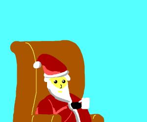 Santa is on his break