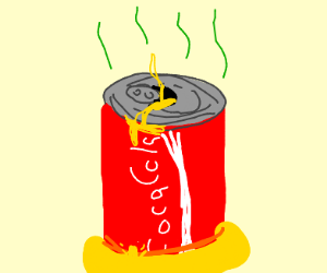A cola can of pee
