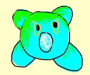 kirby with inverted colors