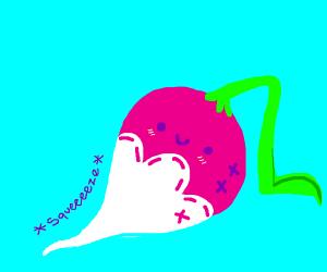 Squishy radish toy