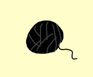 Black yarn ball