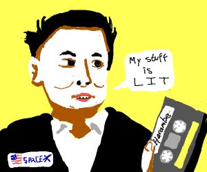 Elon Musk makes a mixtape.