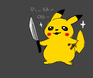 Pikachu with a knife