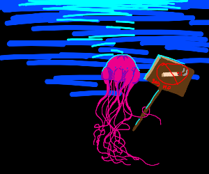 anti smoking jellyfish sign