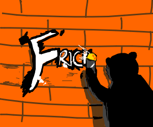Bear writing on the wall