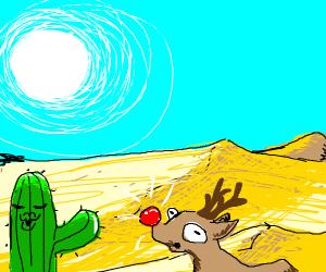 Rudolph in the desert