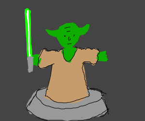 A Yoda minifig