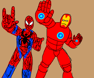 Spiderman x Ironman