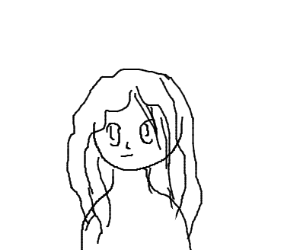 anime girl drawn in ms paint