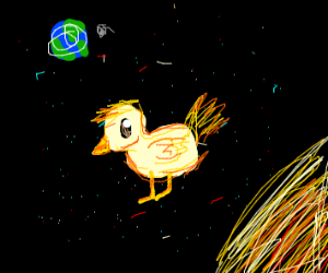 Confused Duck in Space